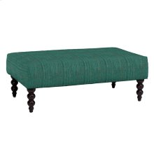 Rockport Large Ottoman, LUCT-TEAL