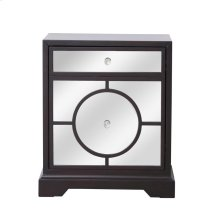 Provide an extraordinary sense of illumination to any room with this transitional side table. With its hand-painted dark walnut finish, single door open to spacious storage with a shelf. The cabinet front is designed in gleaming mirror surface with a circle overlay and accentuated with sparkling knobs, your favorite lamp or display will shine in […]