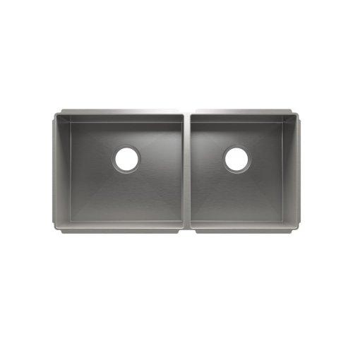 """J7® 003947 - undermount stainless steel Kitchen sink , 18"""" × 16"""" × 8""""  15"""" × 16"""" × 8"""""""