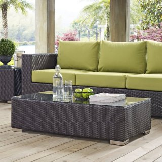 Convene Outdoor Patio Coffee Table in Espresso