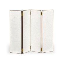 Crackle Ceramic Lacquered Folding Screen