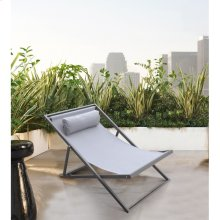 Wave Outdoor Patio Aluminum Deck Chair