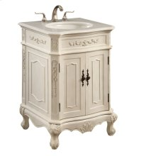 24 in. Single Bathroom Vanity set in Antique White