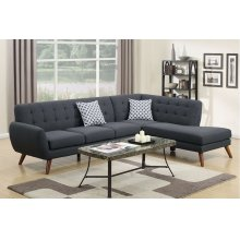 Ash grey Modern Contemporary Chaise Sectional