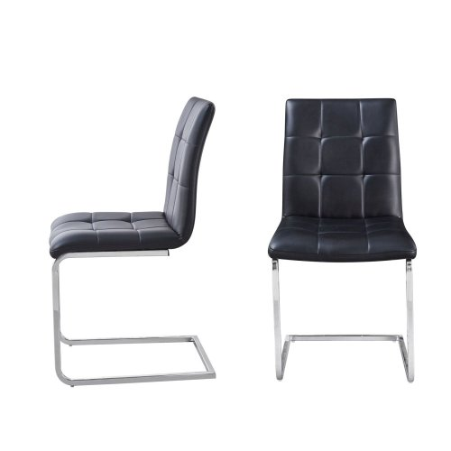 """Escondido White PU Side Chair 22.5'' x19.25'' x35""""H"""