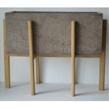 Modrest Polk Modern Concrete Rectangular Planter
