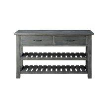 Barn Door Collection Console Table, Grey