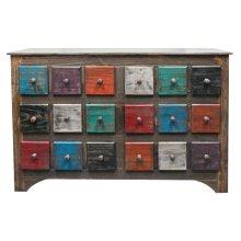 Arco Multi Color 6 Drw Dresser