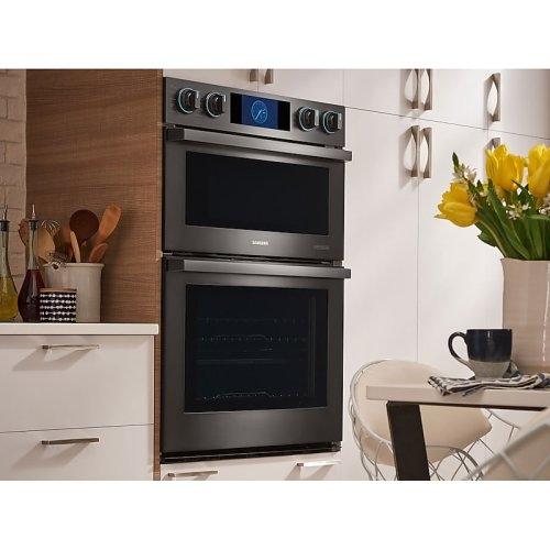 """30"""" Flex Duo Chef Collection Microwave Combination Wall Oven in Matte Black Stainless Steel"""
