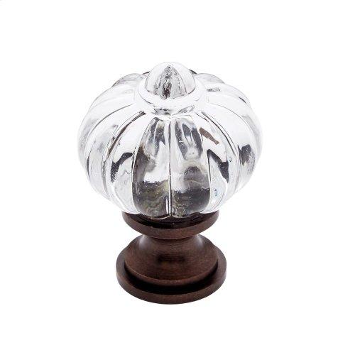 "Old World Bronze 1"" Acrylic ""Crystal"" Knob"