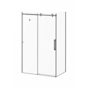 """48"""" x 32"""" x 77"""" sliding shower doors with clear glass - Chrome Product Image"""