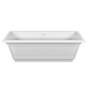 """Freestanding bathtub in Cristalplant® Matte white L 70-7/8"""" x W 31-7/8"""" x H 21-5/8"""" Waste included CSA certified Product Image"""