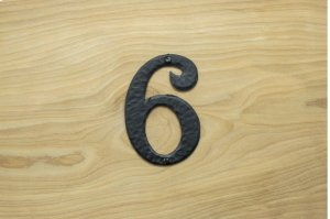 "6 Black 4"" Mailbox House Number 450150 Product Image"