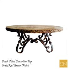 Travertine Round Coffee Table