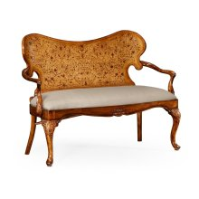 Seaweed marquetry loveseat (Fabric)