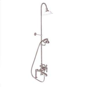 Tub Filler with Diverter Hand-Held Shower and Riser - Lever / Brushed Nickel Product Image