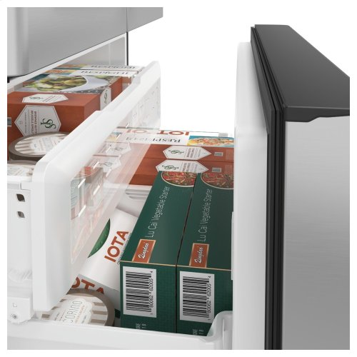 Café ENERGY STAR ® 22.2 Cu. Ft. Counter-Depth French-Door Refrigerator with Keurig ® K-Cup ® Brewing System.  (This is a Stock Photo, actual unit (s) appearance may contain cosmetic blemishes. Please call store if you would like actual pictures). This unit carries A ONE YEAR MANUFACTURER WARRANTY. REBATE NOT VALID with this item. ISI 34159GH