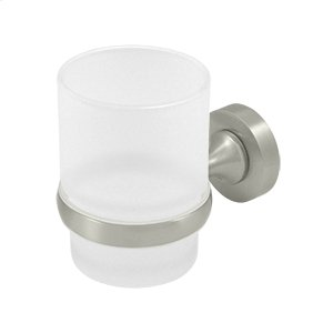 Frosted Glass Tumbler Set, BBN Series - Brushed Nickel Product Image