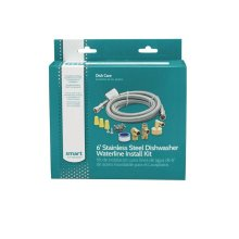 Smart Choice 6' Stainless Steel Dishwasher Installation Kit, no Cord