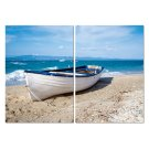 Baxton Studio Leisurely Afternoon Mounted Photography Print Diptych Product Image
