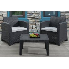 3 Piece Patio Set (Includes 2 Patio Chairs and Table)