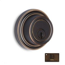 Auxiliary Deadbolt, Brushed Antique Brass - California