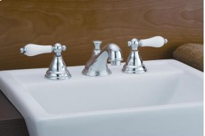 Widespread Bathroom Faucet with Porcelain Levers Product Image