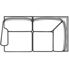 Left Facing Corner Loveseat 7000 Series Selectionals Upholstery