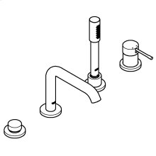 Essence Four-Hole Bathtub Faucet with Handshower