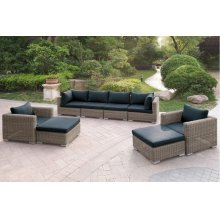 415 / Liz.p33- 8PC OUTDOOR PATIO SOFA SET [P50156(2)+P50157(2)+P50159(2)+P50158(2)]