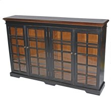 Black Glass Front Bookcase