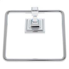 Polished Chrome Gradus Square Towel Ring