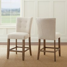 "Debby Counter Chair - Beige 19""x25""x40"" [1/2"" Memory Foam]"