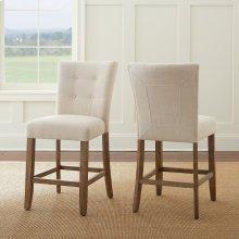 "Debby Counter Chair - Beige 19""x25""x40"" [1/2"" Memory Foam]"