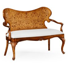 Seaweed marquetry loveseat (Fabric) - COM