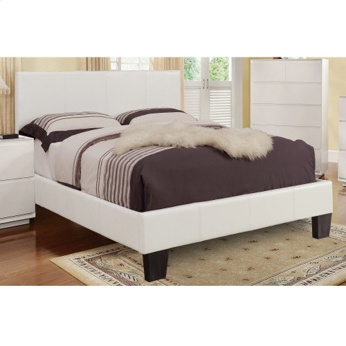 "Volt 60"" Queen Platform Bed in White"