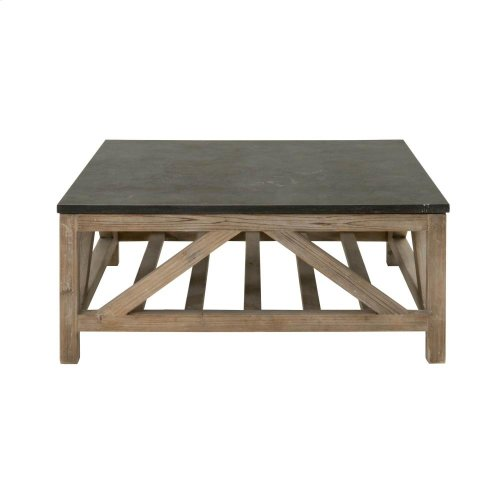 Blue Stone Square Coffee Table