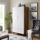 Origin Wood Wardrobe Cabinet in Walnut White Product Image