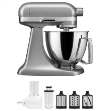 Exclusive Artisan® Series Stand Mixer & Fresh Prep Attachment Set - Contour Silver