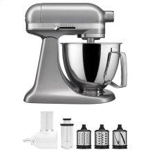 Exclusive Artisan® Series Stand Mixer & Fresh Prep Attachment Set - Contour Silver