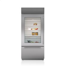 """36"""" Classic Over-and-Under Refrigerator/Freezer with Glass Door"""