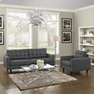 Empress Armchair and Sofa Set of 2 in Gray Product Image