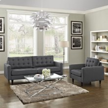 Empress Armchair and Sofa Set of 2 in Gray
