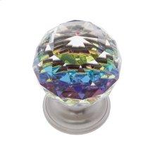 Satin Nickel 40 mm Round Prism Knob