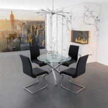 Solara II/Maxim 5pc Dining Set, Black