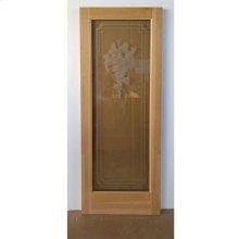 Cedar Grape Glass Door - Old Stock