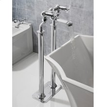 Waldorf Floor-mount Pillar Legs - Polished Chrome