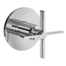 Stoic Port Diverter Valve Trim Only - Cross Handle - Polished Chrome