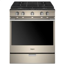 5.8 cu. ft. Smart Slide-in Gas Range with EZ-2-Lift Hinged Cast-Iron Grates (OPEN BOX CLOSEOUT)
