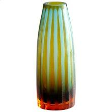 Sm. Cyan-ornge Strip Vase